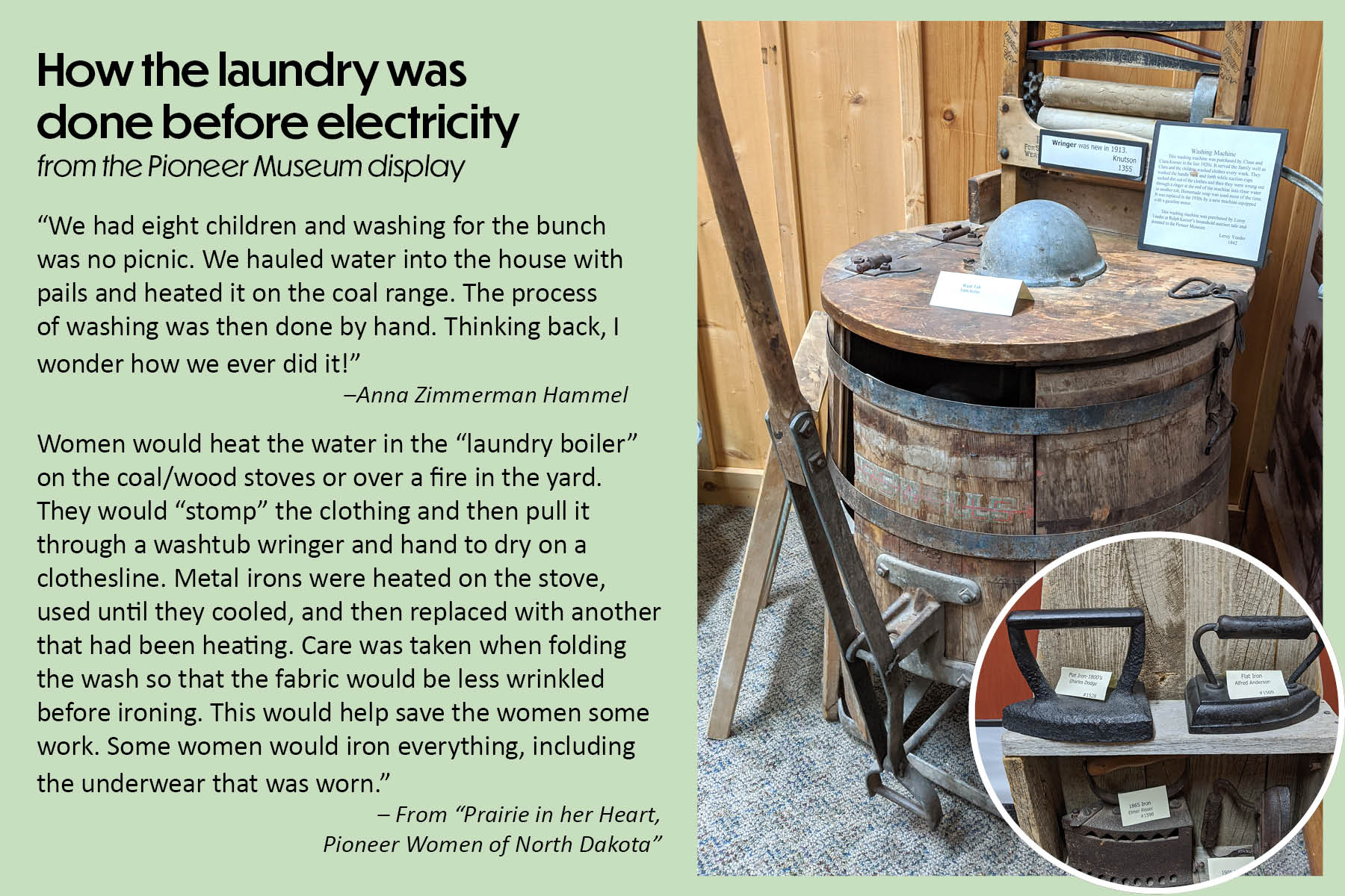 How the laundry was done before electricity